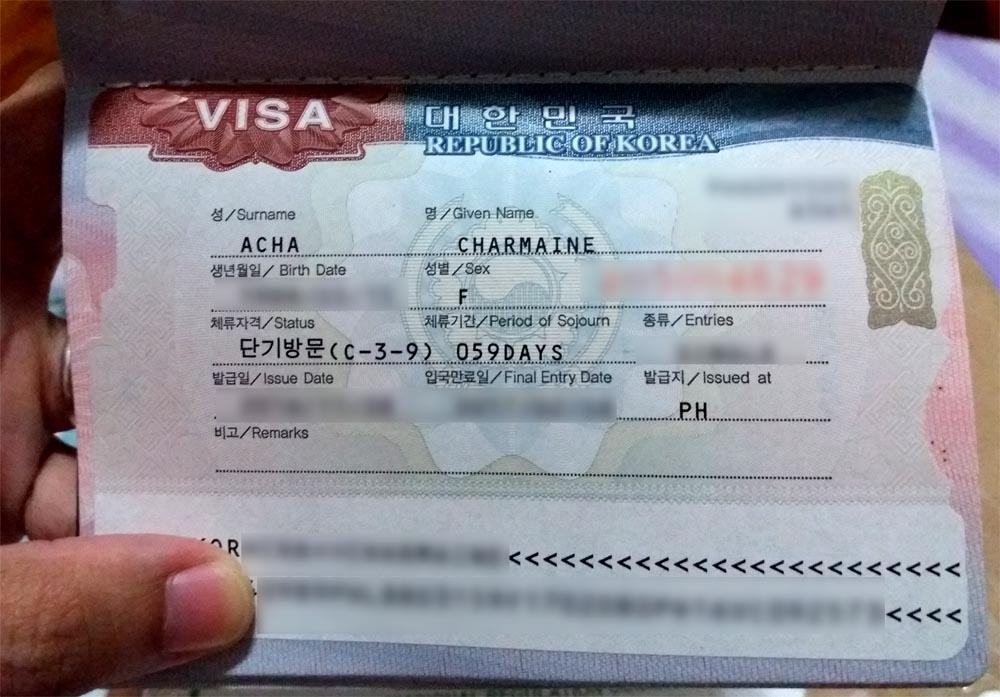 south korea visa application