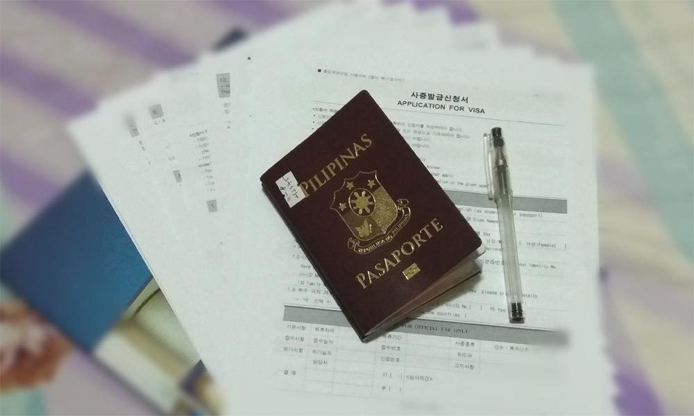 south korea tourist visa no itr