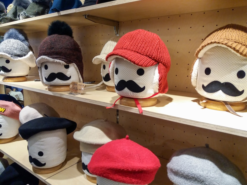knitted caps from Korea